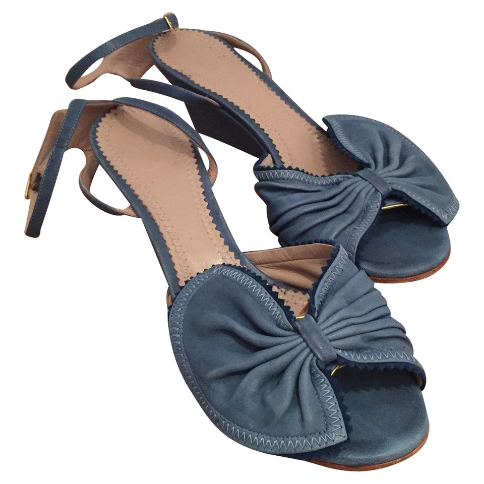 Chloé Peeptoes in blue