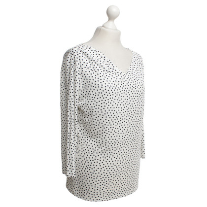 Max Mara top with dot pattern in white / black
