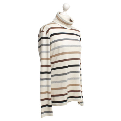 Bogner Roll collar top with striped pattern