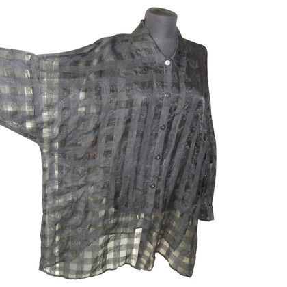 Laurèl oversize blouse with grid