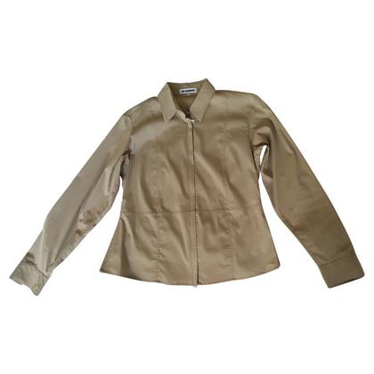 Jil Sander Licht jasje in overhemd stijl