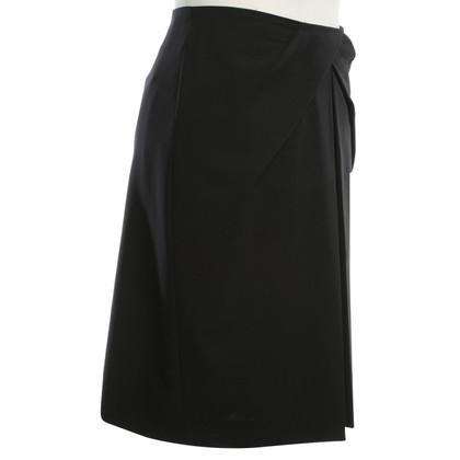 Hugo Boss Uitlopende rok in zwart
