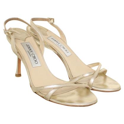 Jimmy Choo Riemchen-Sandaletten in Gold