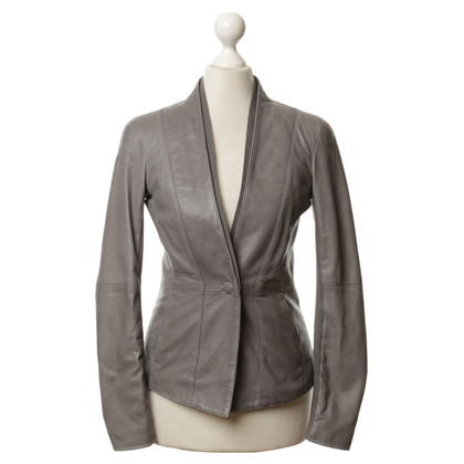 Armani Leather jacket in grey