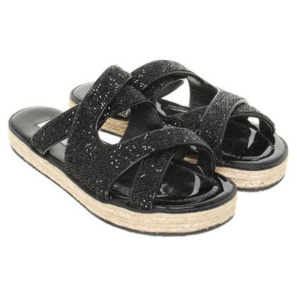 Jimmy Choo Platform sandalen in zwart