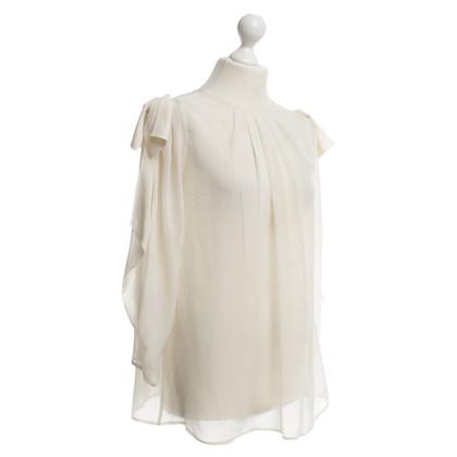 Elisabetta Franchi Zijden blouse in crème