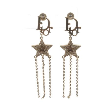 Christian Dior Goudkleurige oorbellen