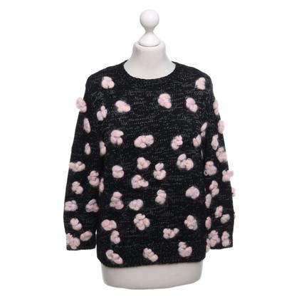 Chloé Pullover in Schwarz/Rosé