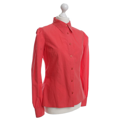 Prada Blouse in coral red