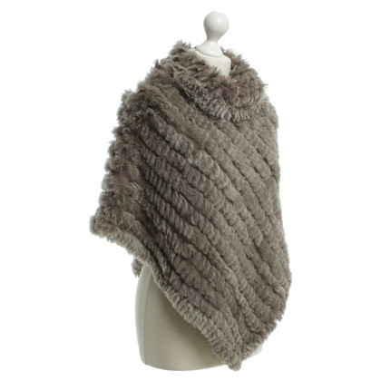 Oakwood Fur Poncho in Taupe