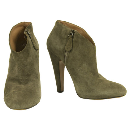Alaïa Gray Ankle Boots