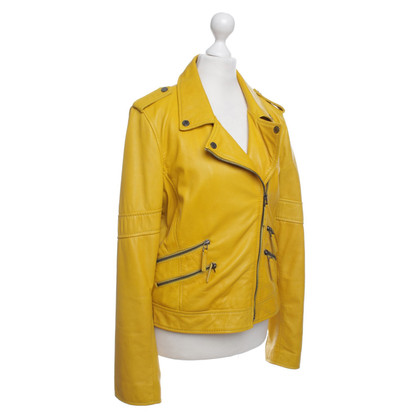 Oakwood Lederjacke in Gelb