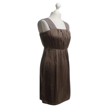 Marc Cain zijden jurk in Taupe