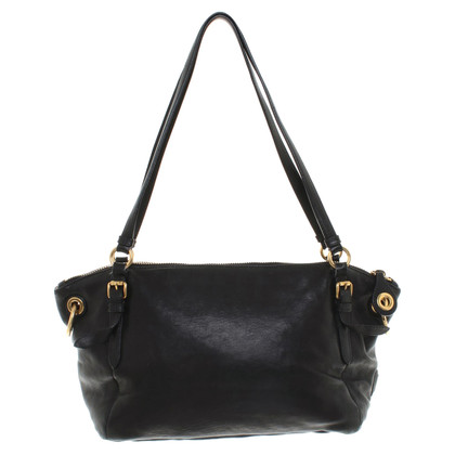 Car Shoe Handbag in black