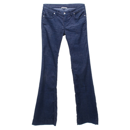 Pinko pantaloni di velluto in blu