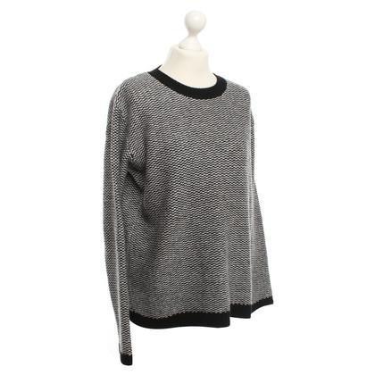 Jil Sander Knit sweater in Black / White
