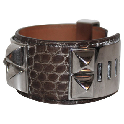 "Hermès Bracelet ""Collier de Chien Alligator Leather"""