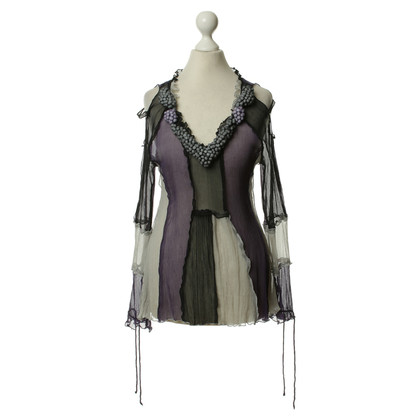 Marc Jacobs Silk top in purple-grey-black