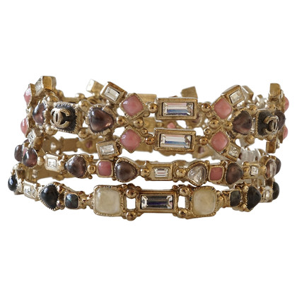 Chanel Bracelet set with glass stones