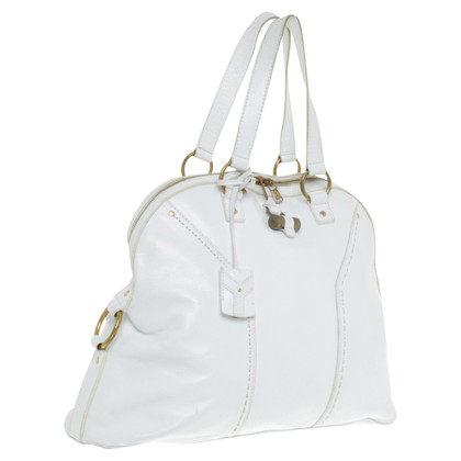 Yves Saint Laurent Handtas in White