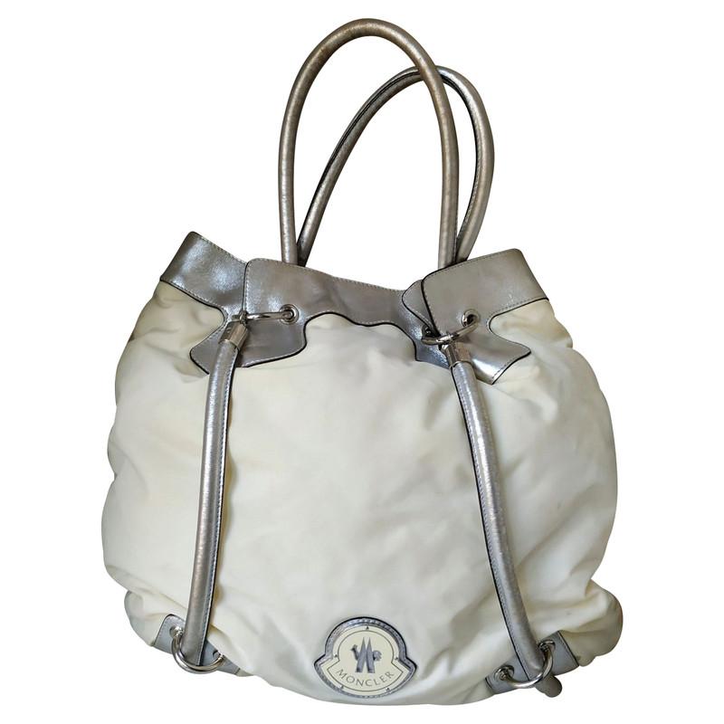 Moncler Tote Bag aus Leder Second Hand Moncler Tote Bag