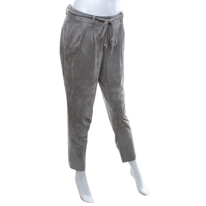 Utzon Lederhose in Grau