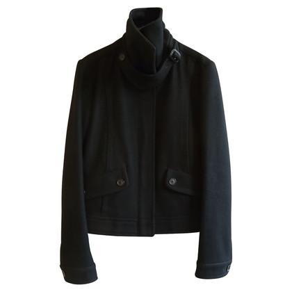 Burberry Giacca di lana nera