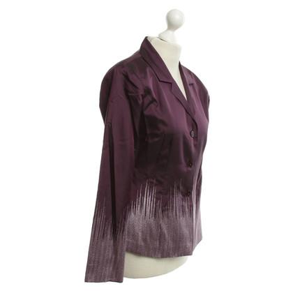 Van Laack Silk Blazer in Purple