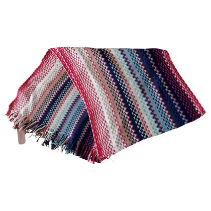 Missoni Sjaal in blauw / roze