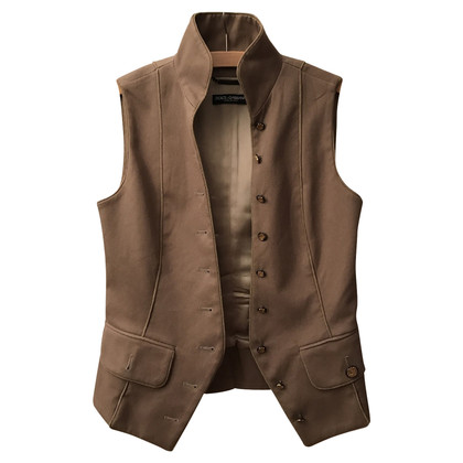 Dolce & Gabbana Light brown vest tab Look