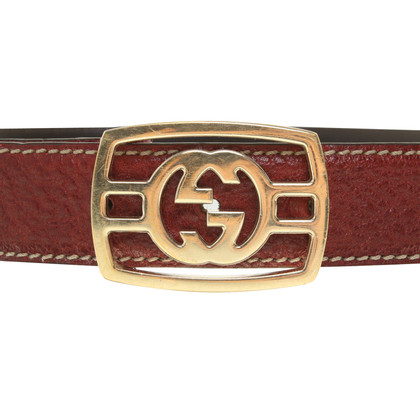 Gucci cintura di pelle color bordeaux