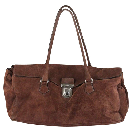 d71de1da6874 Prada Suede shoulder bag - Second Hand Prada Suede shoulder bag buy ...