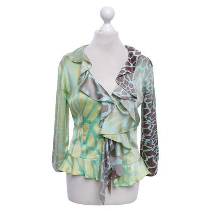 Roberto Cavalli Silk blouse with pattern