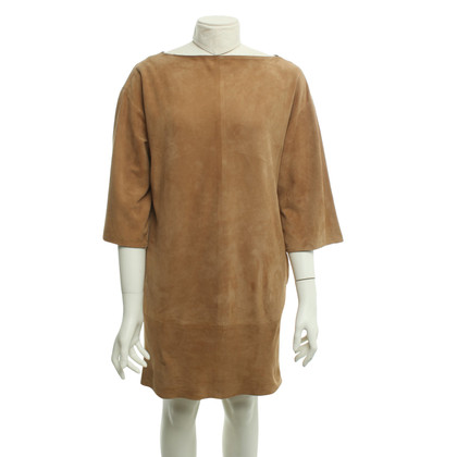 Céline Leather dress in light brown