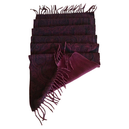 Etro cashmere scarf in black and brown