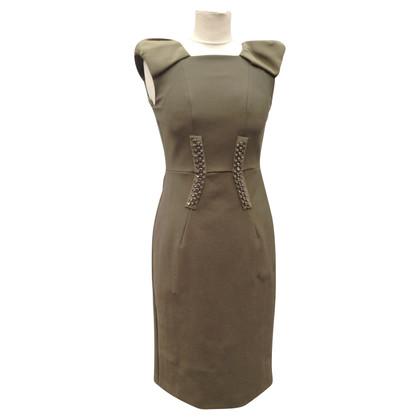 Dorothee Schumacher Schede jurk van Schumacher met strass in olijfgroen