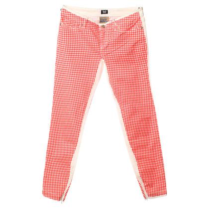 Dolce & Gabbana Pantaloni a scacchi rosso/bianco