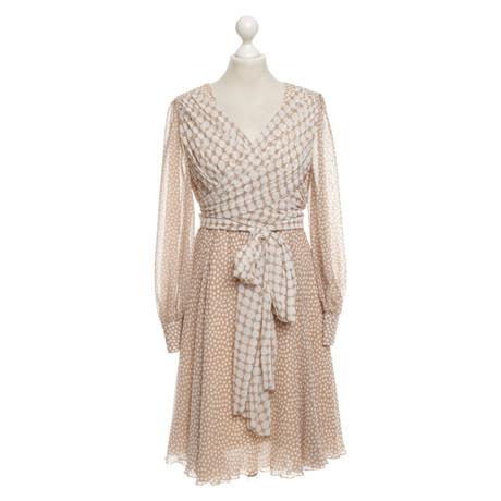 Addy van den Krommenacker Kleid mit Punktemuster Beige