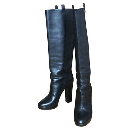 Christian Dior Black Leather Boots