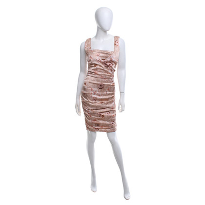 Elisabetta Franchi Silk dress in rosé