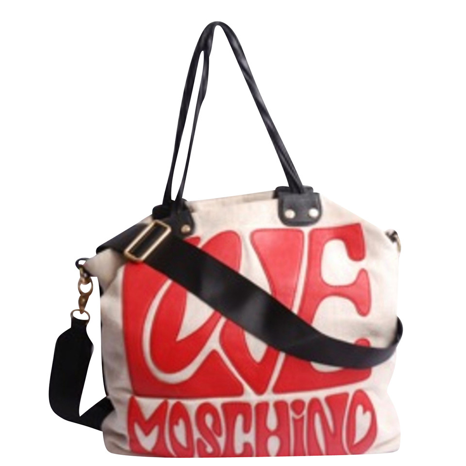 moschino love tasche mit schriftzug second hand moschino love tasche mit schriftzug gebraucht. Black Bedroom Furniture Sets. Home Design Ideas