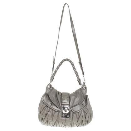 Miu Miu Handtasche in Silbergrau