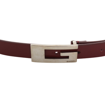 Gucci Belt in Bordeaux red