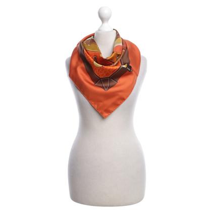 Hermès Seidentuch ,,Tout Cuir' in Orange