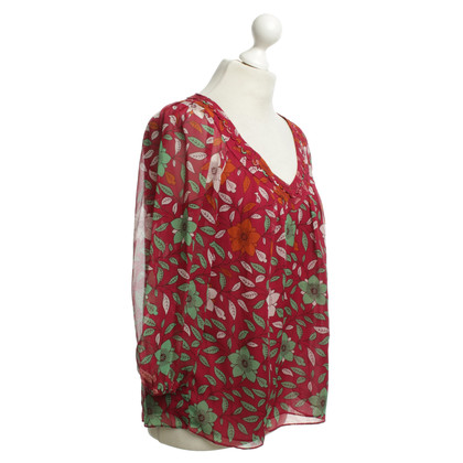 Diane von Furstenberg top with floral pattern