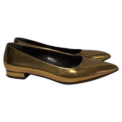 Jil Sander Ballerinas in Gold
