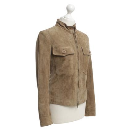Andere merken Ninette - leren jas in kaki