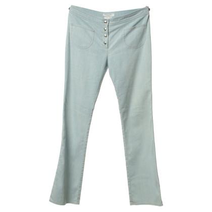 Christian Dior Staking broek in lichtblauw