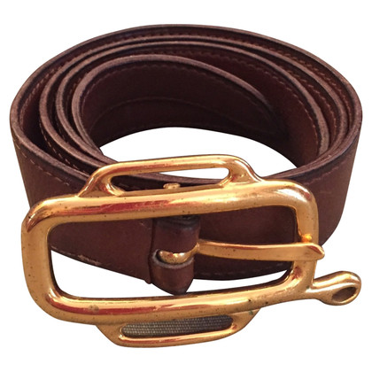 Hermès Leather belt in brown