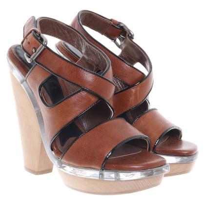 Marni Leren sandalen